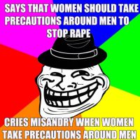 Funny MRA: Self Defend, But Don't Because Misandry by punctual3