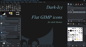 Flat Icons for GIMP: Dark-Icy by capn-damo