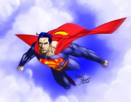 Superman Art Collab by j4ever