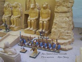 Abu Simbel miniature for RPG closeup by Beishung