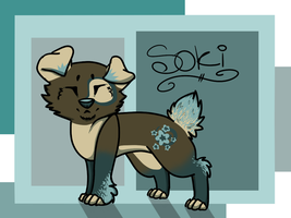 Soki Dog Adoptable - Bid now! Closed by Moon-DaZzLe