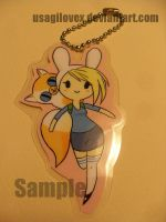 Fionna and Cake Keychain by UsagiLovex