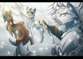 Snow Friends by RiverSpirit456