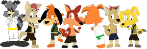 Kung Fu Furries by JustinandDennnis