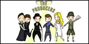 The Producers character lineup by chibiviolinist