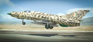 Mikoyan-Gurevich MiG-21 (Fishbed) by rOEN911