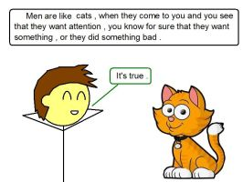 Men are like cats by TheAdamBryant