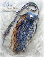 BLUE SPIRIT BEAR Pouch by ChaeyAhne