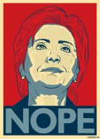 Hillary Nope by roberlan