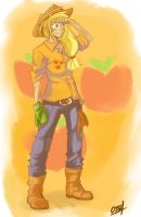 Human Applejack by Coin-Trip39