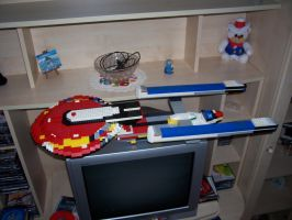 LEGO USS Excelsior View 2 by Tzoli