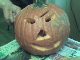 my cousins pumpkin by DarkAngel5213