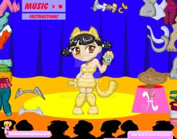dress up game doll MewMew by heglys