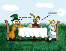 The Awkward Tea Party by CrystalKaleidescope