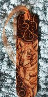 Pyrography Wolf Bookmark by BumbleBeeFairy