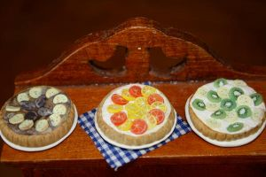 polymer clay tarts by superawesomemonkey