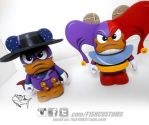 DARKWING DUCK and QUACKERJACK Vinylmation by F1shcustoms
