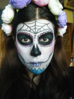 Sugar skull, Day of the Dead makeup 2 by aita92