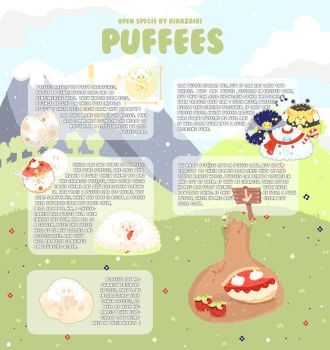 PUFFEES SPECIE SHEET by kirazaiki