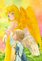 Child's angels and cats by efira-japan