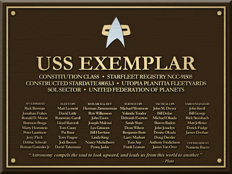 USS Exemplar Plaque by LordTrekie