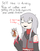 Self care with Tei Sukone by Ask-Tei-the-Yandere