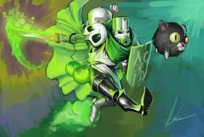 Castle Crashers: The Acid Knight by DarthAgnan