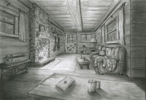 Cabin in the Woods, Interior by JMC2D