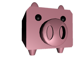 piggy bank in 3D mode by ella-and-aimi