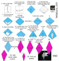 Lily or Iris origami tutorial by lantern77