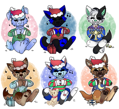 YCH holiday examples :3 by SilverC236