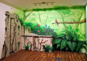 Jungle Mural Painting by MG-Airbrush