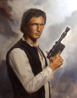 Han Solo Oil Painting by Stungeon