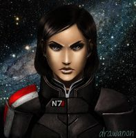 Lynne Shepard by drawanon