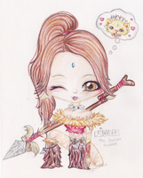 League of Legends: Nidalee Chibi by iEmme