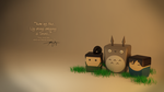 Taking picture with TOTORO (wallpaper) by stealthcache
