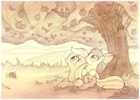 Mother Tree Sketch by sherwoodwhisper