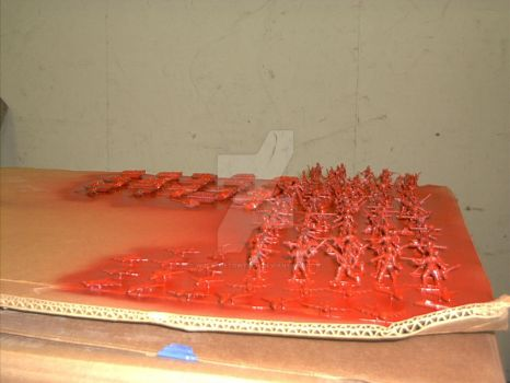 Project RISK Red army painted by wolffoetowtech