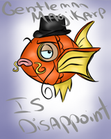 Gentleman Magikarp by SilentEvil94