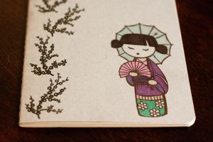 Geisha Moleskine - Detail 1 by HappyPenguinArt
