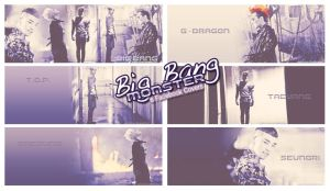 Big Bang's Monster Facebook Covers by euphoriclover