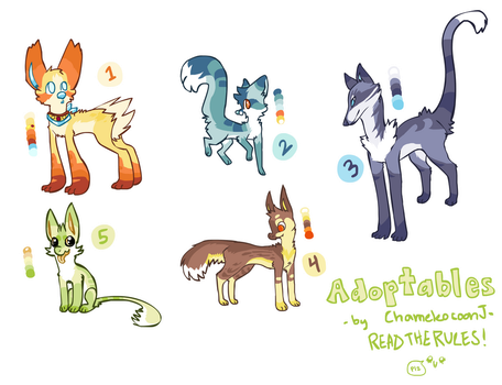 Awesome Adopts -CLOSED- by chameleocoonJ