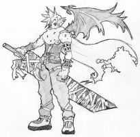 Cloud - Kingdom Hearts by Roadhouse-Hunter