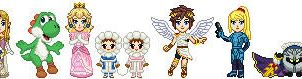 Super Smash Bros Brawl Sprites by Kayari-of-Midnight