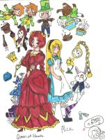 The Queen and Alice by BlueRoseFox