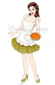 Holiday Pinup: Thanks for the Memory by laurakimseydesigns