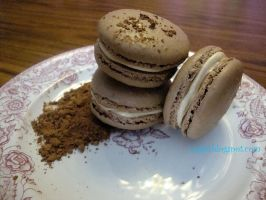 Chocolate Macarons by SugiAi
