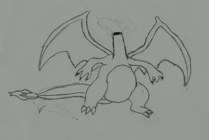 headless charizard by ResidentEvilhunters