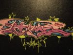 Bubble Gum on a blackbook by FranklinAttaberry