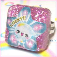 Lucky Bubble Resin Ring by bapity88